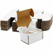 White Corrugated Mailer Boxes Shipping Supplies 3 X 4 X 2 In 50 Pack