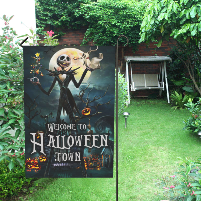 Nightmare Before Christmas Garden Decor Flag Weatherproof Outdoor Living