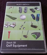 Dosch Design GOLF EQUIPMENT DVD 50 3D Models for Maya, LW3D, 3DSMax & More!
