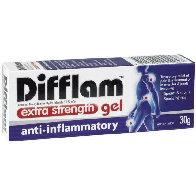 DIFFLAM ANTI- INFLAMMATORY GEL EXTRA STRENGTH (30G) - JOINT ARTHRITIS MUSCLE
