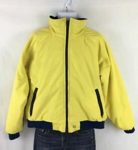 Vintage-Woolrich-Teton-Men-s-Yellow-Parka-Jacket-XL-Fleece-Lined-Windbreaker