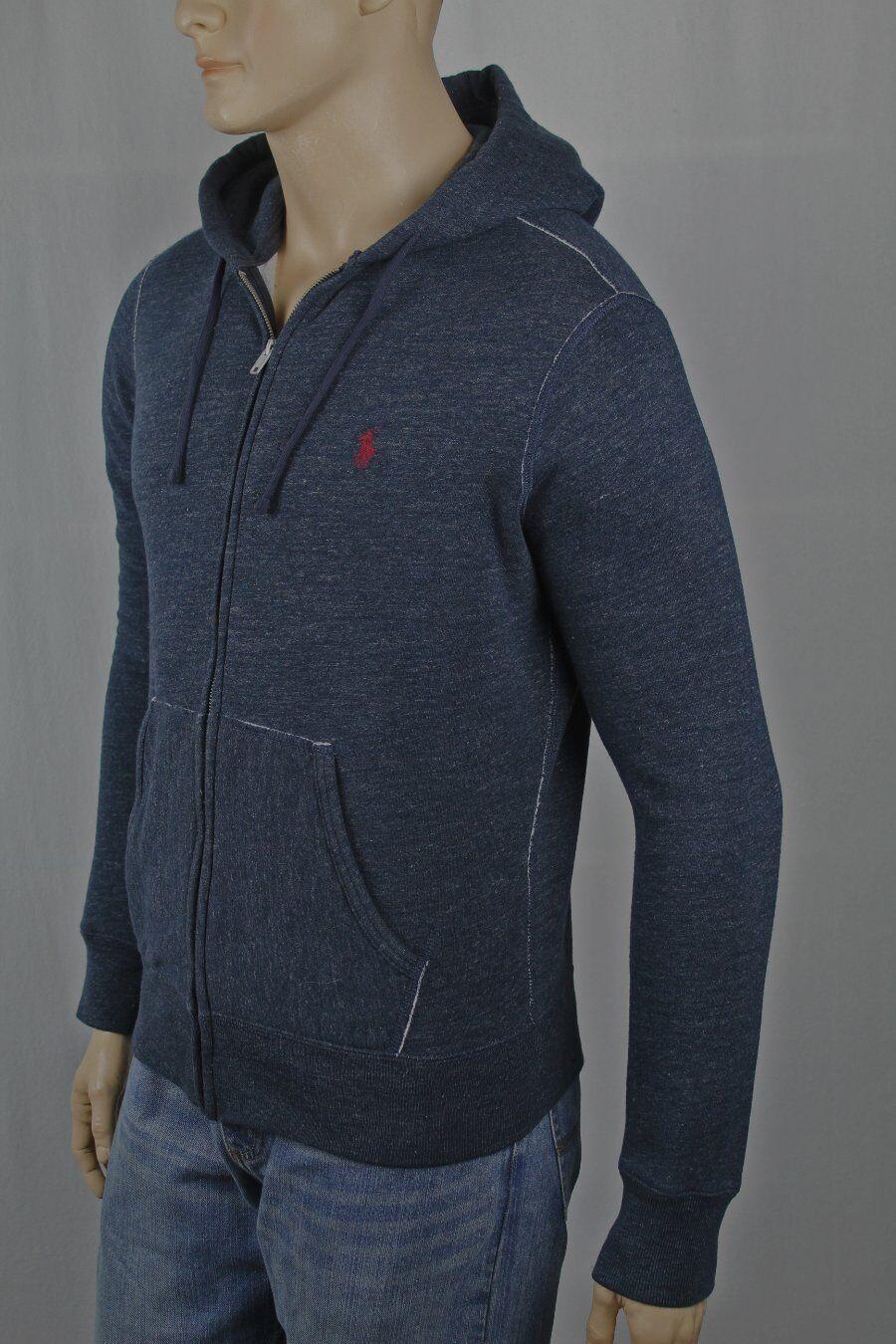 Polo Ralph Lauren Blau Grau Hoodie Full Zip Sweatshirt NWT