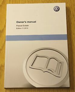 genuine vw passat estate b8 2015 2018 owners manual handbook print rh ebay co uk 2013 passat owners manual 2010 passat service manual
