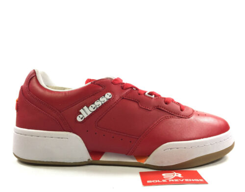 New Ellesse Piacentino 2.0 Casual Leather Sneakers 610309 Shoes Red//Red c1