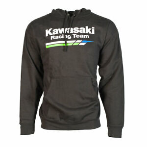 Factory Effex Kawasaki Black Crew Sweatshirt Pullover Adult Licensed KX KXF NEW