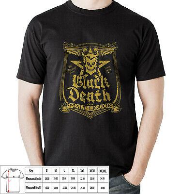 WKRP In Cincinatti Black Death Beer Johnny Fever Men/'s Black T-Shirt Size S-3XL