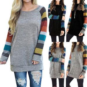 Modal-Longsleeve-Pullover-Pulli-Shirt-mehrfarbig-Sweatshirt-Langarm-S-3X-BC607