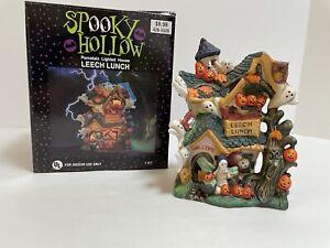 Spooky Hollow Porcelain House Halloween Village Leech Lunch * no cord