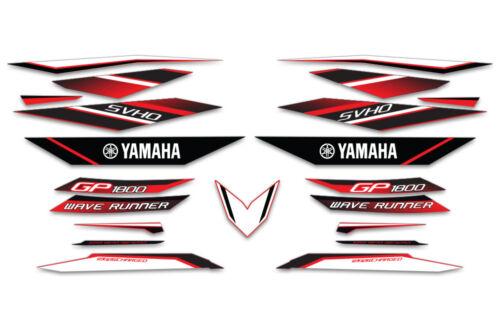 2017 YAMAHA WaveRunner GP 1800 Graphic Decal Kit OEM Jetski Stickers Jet Ski RED