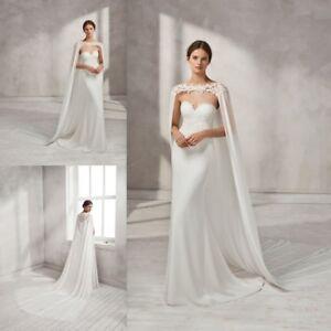 1e3f050728 White Ivory Bride Dresses s Capes Wedding Bridal Cloaks Lace Edge ...