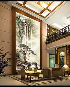 3D-Waterfall-Scenery-2096-Paper-Wall-Print-Wall-Decal-Wall-Deco-Indoor-Murals