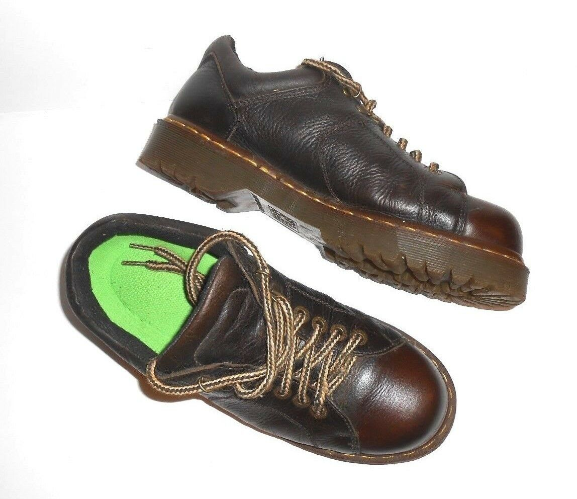 Mens Dr. Doc Martens Size 9 Brown Leather Lug Sole Lace Up Work shoes