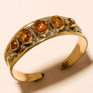 New-Year-Sale-Offer-925-Tibetan-Brass-Free-Shipping-Cuff-Amber-Jewellery