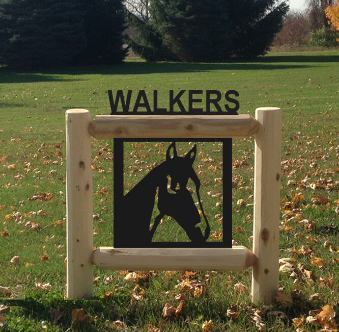 HORSES - OUTDOOR SIGNS - EQUSTRIAN HORSE SIGN
