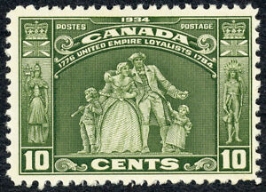United Empire Loyalists - 10c - 1934 - Scott #209 - F/VF MNH