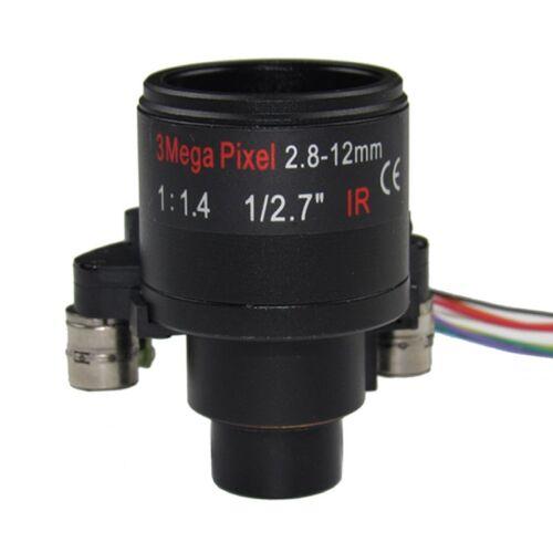 """M14 Mount 3MP Motorized 2.8-12mm Varifocal CCTV Lens 1//2.7/"""" for HD CCTV Cameras"""