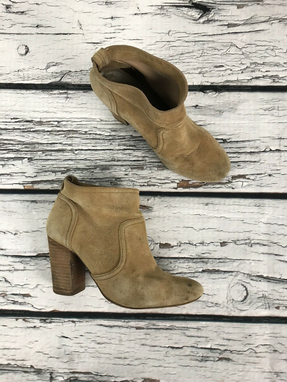 Womens Suede Leather TORY BURCH Ankle Boots Booties Size 6.5