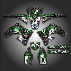 KAWASAKI-KX450F-KXF-450-2009-2011-GRAPHICS-KIT-DECALS-EVIL-JOKER-BLACK-GREEN