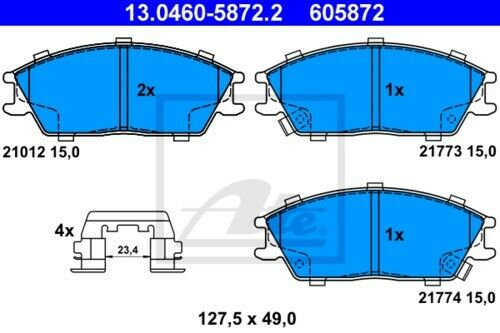 UAT Disques De Frein Revêtements Devant ø256 HYUNDAI GETZ 3914449