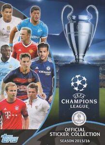 UEFA Champions League 2015//16 Autocollants-choisissez dans la liste dans la description-TOPPS