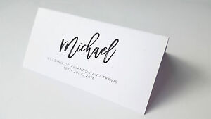 wedding name placecards custom personalised name escort place cards