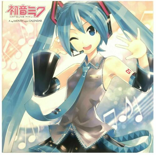 """HATSUNE MIKU  16 Month 2021 Wall Calendar by Double Time 12/"""" x 24/"""""""