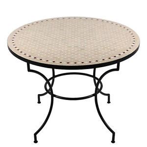Gartentisch rund mosaik  Marokkanischer MOSAIKTISCH Gartentisch Eßtisch Mosaik Tisch Orient ...
