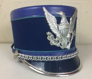 24cbbf508de Image is loading Marching-Band-Hat-Shako-Vintage-Blue-Bayly-Inc