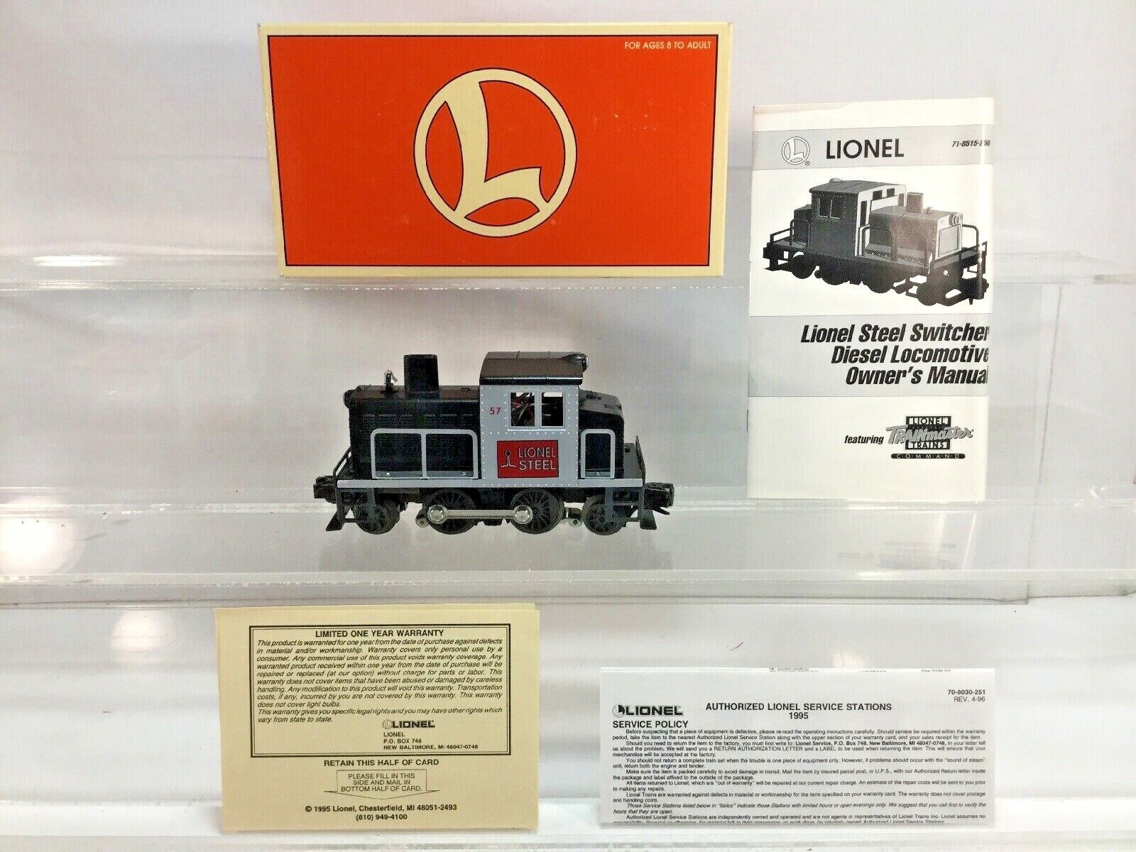Lionel Electric Train 6-18515 57 Lionel Steel Switcher Command Boxed