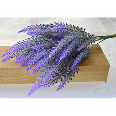 New 25 Heads Lavender Bouquet Wedding Silk Flower High Simulation Home Decor TMG