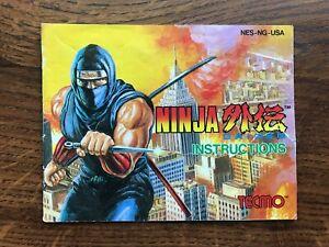 Ninja Gaiden Nes Nintendo Instruction Manual Only Ebay