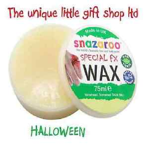 Halloween-snazaroo-Special-Effects-Special-Fx-moulding-Wax-75ml-Make-scars-amp-cuts