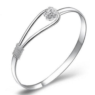 Hot Celebrity Silver Plated Women Charm Bracelet Bangle Cuff  Jewelry Gift
