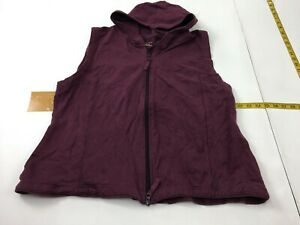 Cabela-039-s-Full-Zip-Vest-Hooded-Women-039-s-Size-2XL-Purple