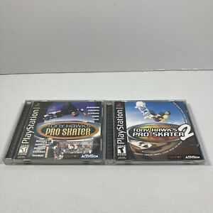 PS1-Tony-Hawk-039-s-Pro-Skater-1-2-PlayStation-1-Tested-Two-Complete-Games