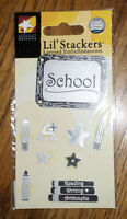 School Days Lil' Stackers Layered Metal Scrapbook/card Embellishment