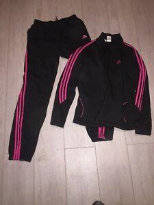 Survêtement Adidas noir et fuchsia