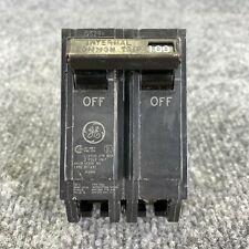 Ge Type Thql 100amp 2 Pole 240vac Circuit Breaker