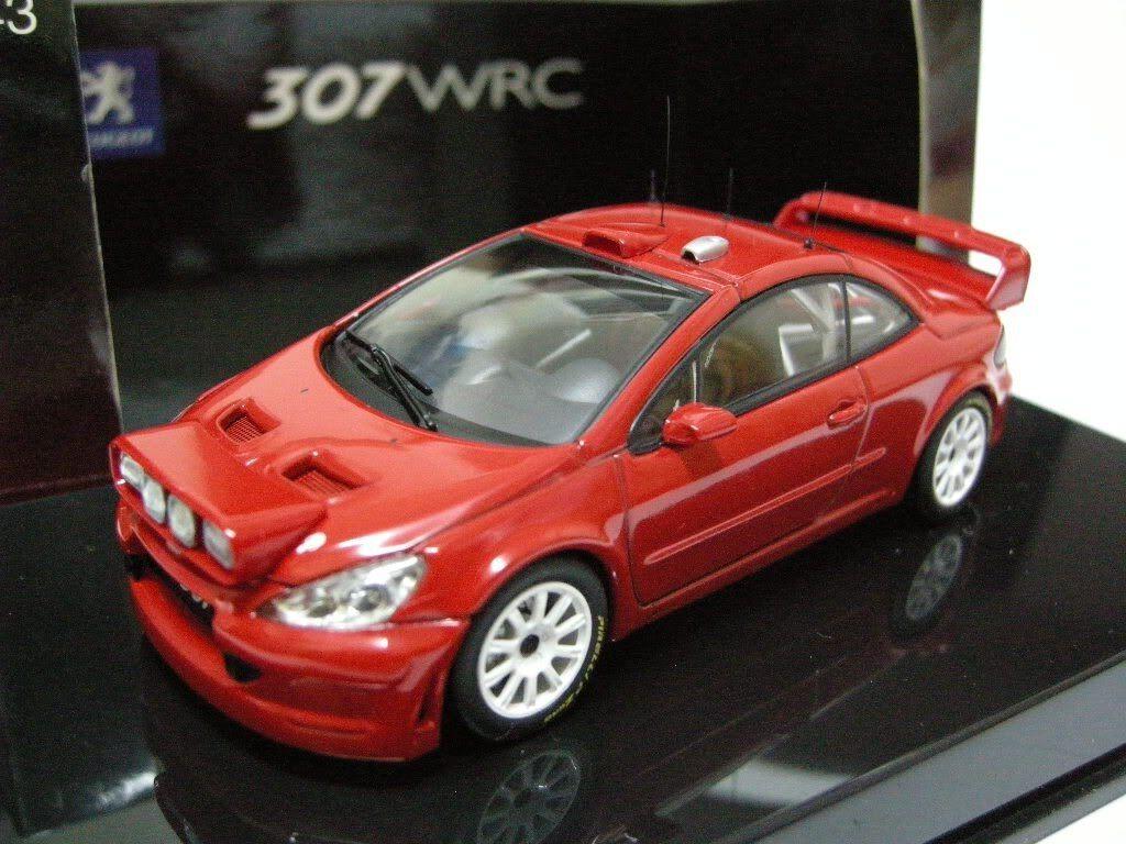 PEUGEOT 307 WRC VERSION PLAIN BODY rouge AUTOART 60557 1 43 NEW NIGHT VERSION rouge