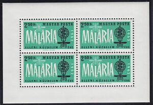 Ungarn-1962-Mi-Block-35A-034-Kampf-gegen-Malaria-034-postfrisch