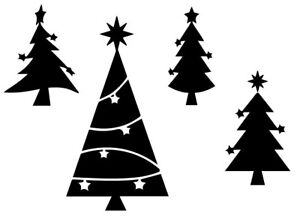 Details About Christmas Tree Stencil Card Craft Quilting Airbrush Tattoo Free Post