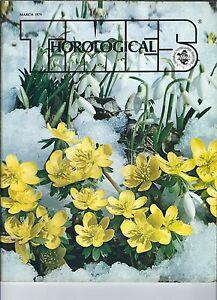 MF-086 - Horological Times Magazine March 1979, Music Box Clock, Bezel Jewels