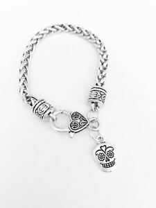 Sugar-Skull-Charm-Bracelet-Day-Of-The-Dead-Gothic-Fantasy-Gift-For-Her-Jewelry