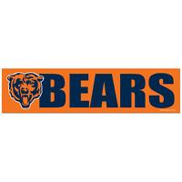 Chicago Bears Car Bumper Sticker Decal 3 X 12 Strip Nfl Football