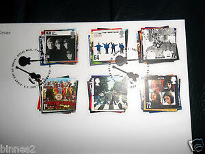 THE-BEATLES-OFFICIAL-ROYAL-MAIL-2007-FIRST-DAY-COVER-SET-6-UK-STAMPS-MINT-CARD