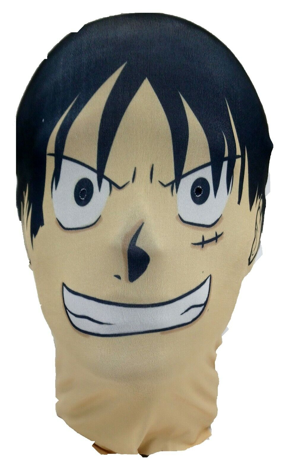 Details About Monkey D Luffy Full Head Mask Straw Hat One Piece Parody Cosplay Halloween