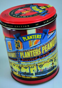 Christmas Planters Peanuts.Details About 1998 Christmas Limited Edition Mr Peanut Planters Peanuts 2nd In Series Tin