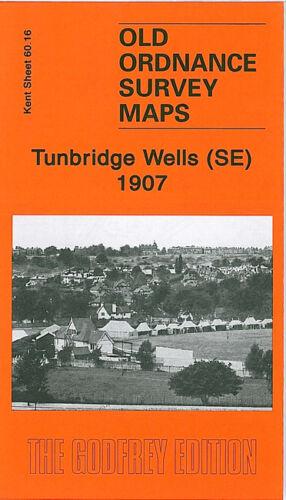OLD ORDNANCE SURVEY MAP TUNBRIDGE WELLS SOUTH EAST 1907 HAWKENBURY BENHALL MILL