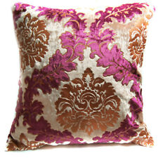 Wa03a Brown Red Gold Print Damask Velvet Cushion Cover//Pillow Case Custom Size*