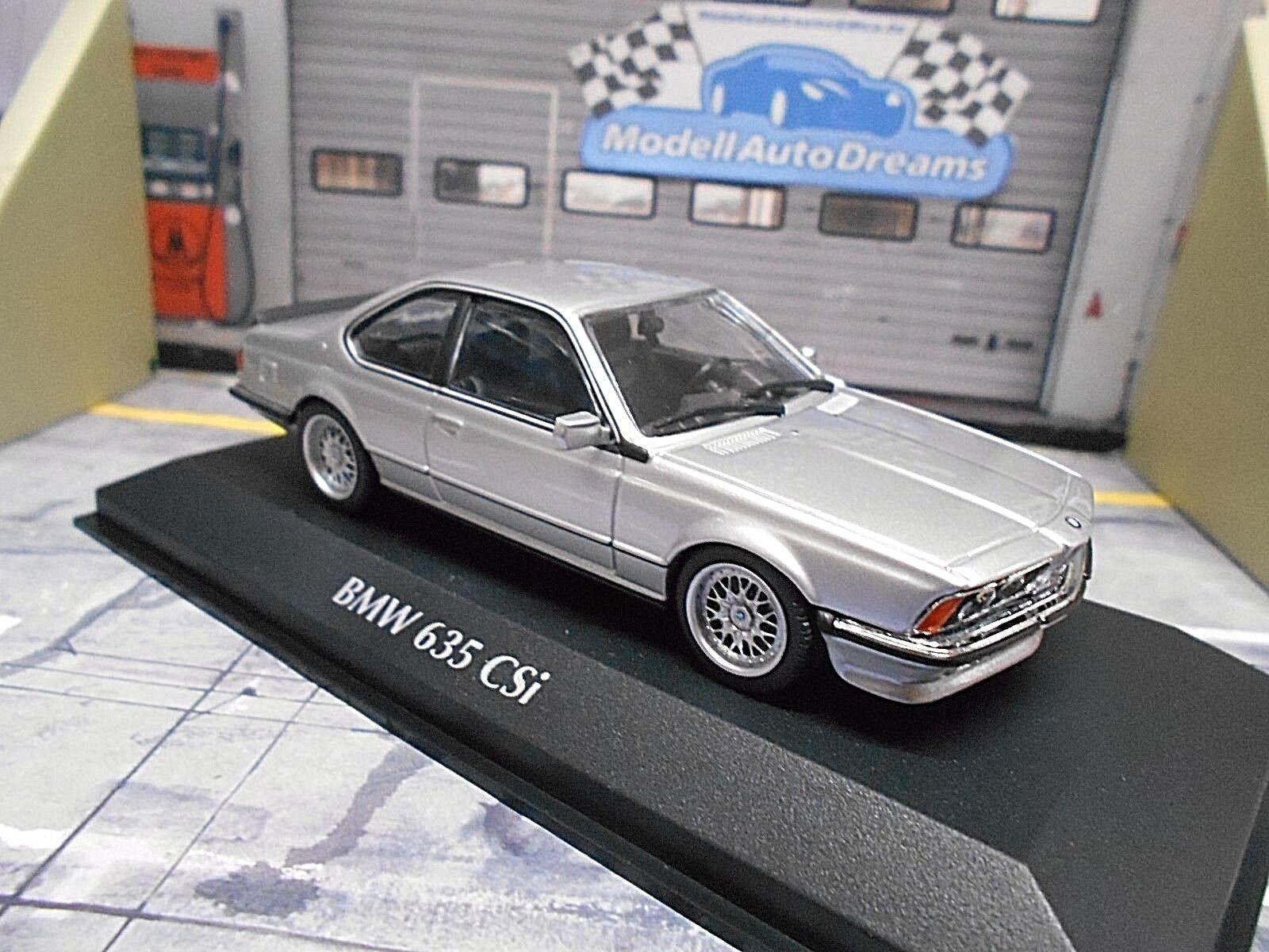 BMW 6er Reihe Coupe CSI 635 635CSI E24 silber 1982 NEU Minichamps 1 43  | Verkauf Online-Shop